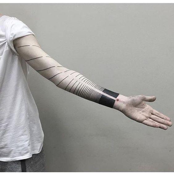 Blackwork Spiral Sleeve Tattoo