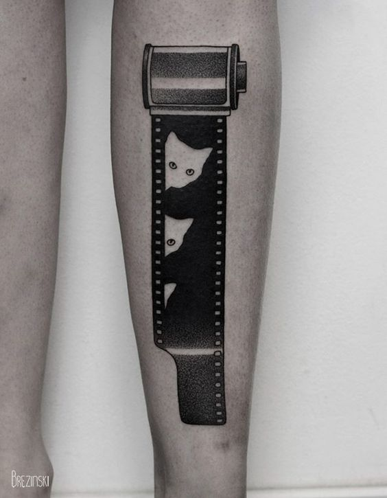 Chat sur le film Blackwork Tattoo