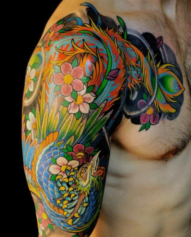 Dessins de tatouage colorés 30