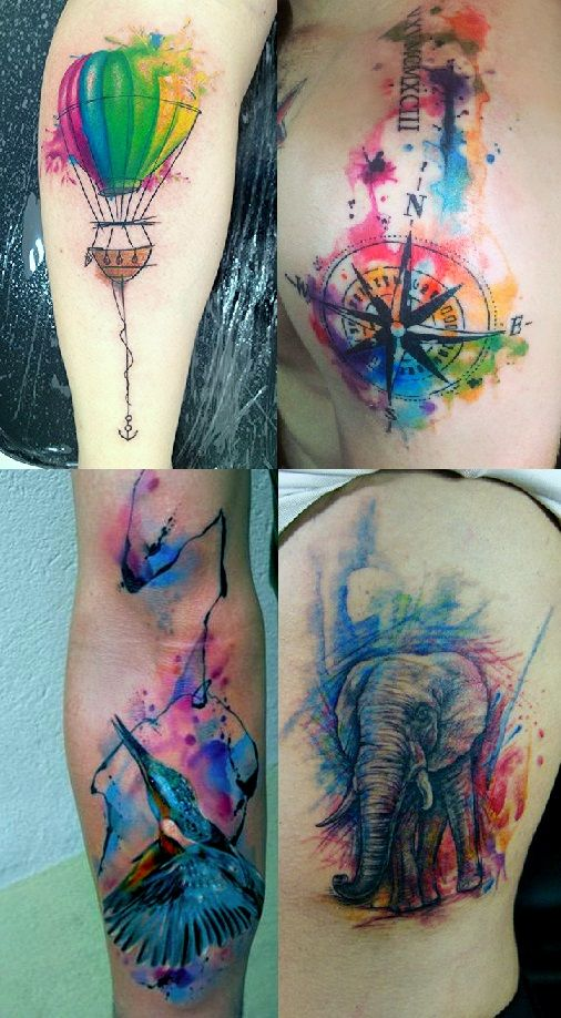 Dessins de tatouage colorés 31