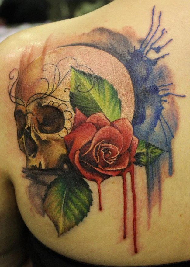 Dessins de tatouage colorés
