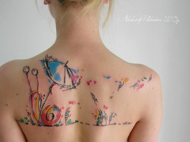 Dessins de tatouage colorés 6