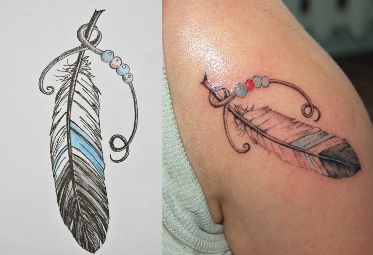 Dessins de tatouage colorés 7