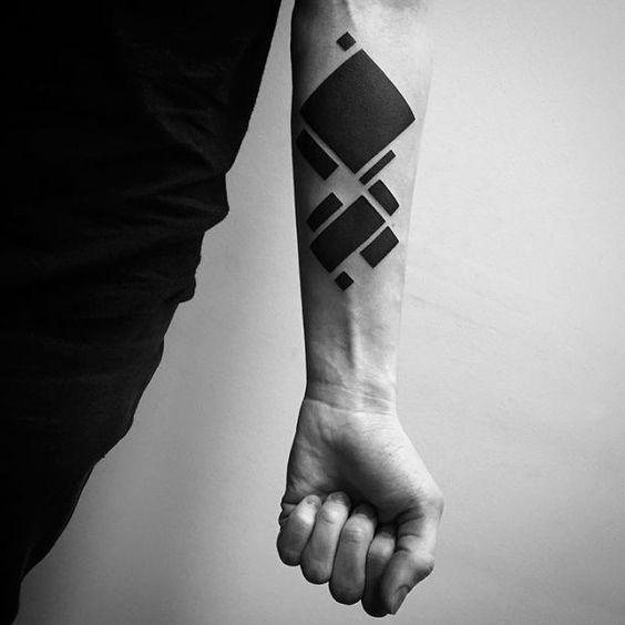 Tatouage d'avant-bras de pépins numériques