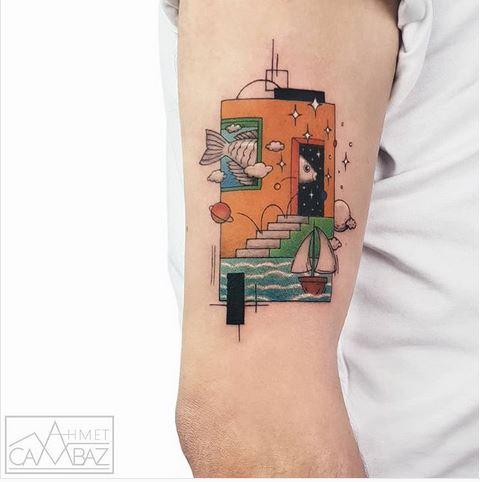 Thème d'illustration graphique Bras Tattoo