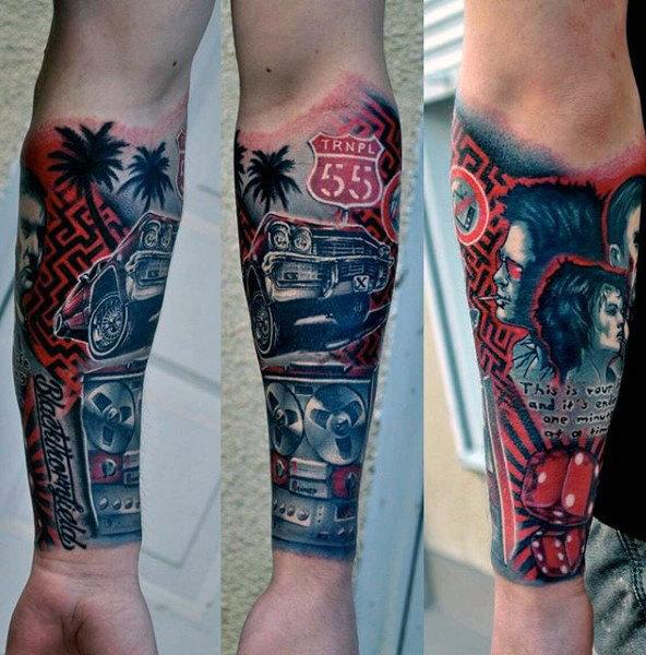 Tatouage avant-bras de la culture populaire
