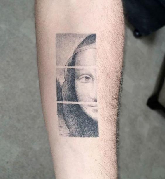Tatouage Mona Lisa segmenté