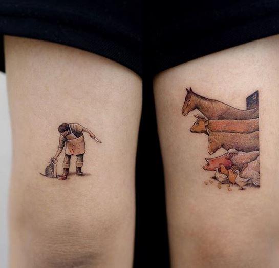 Les tatouages de bras de boucher