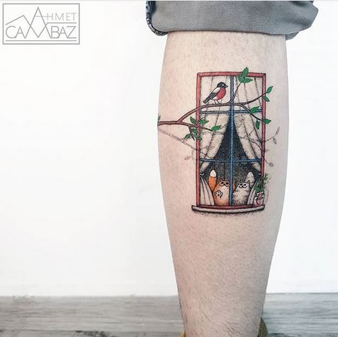 Affichage de la fenêtre Calf Tattoo
