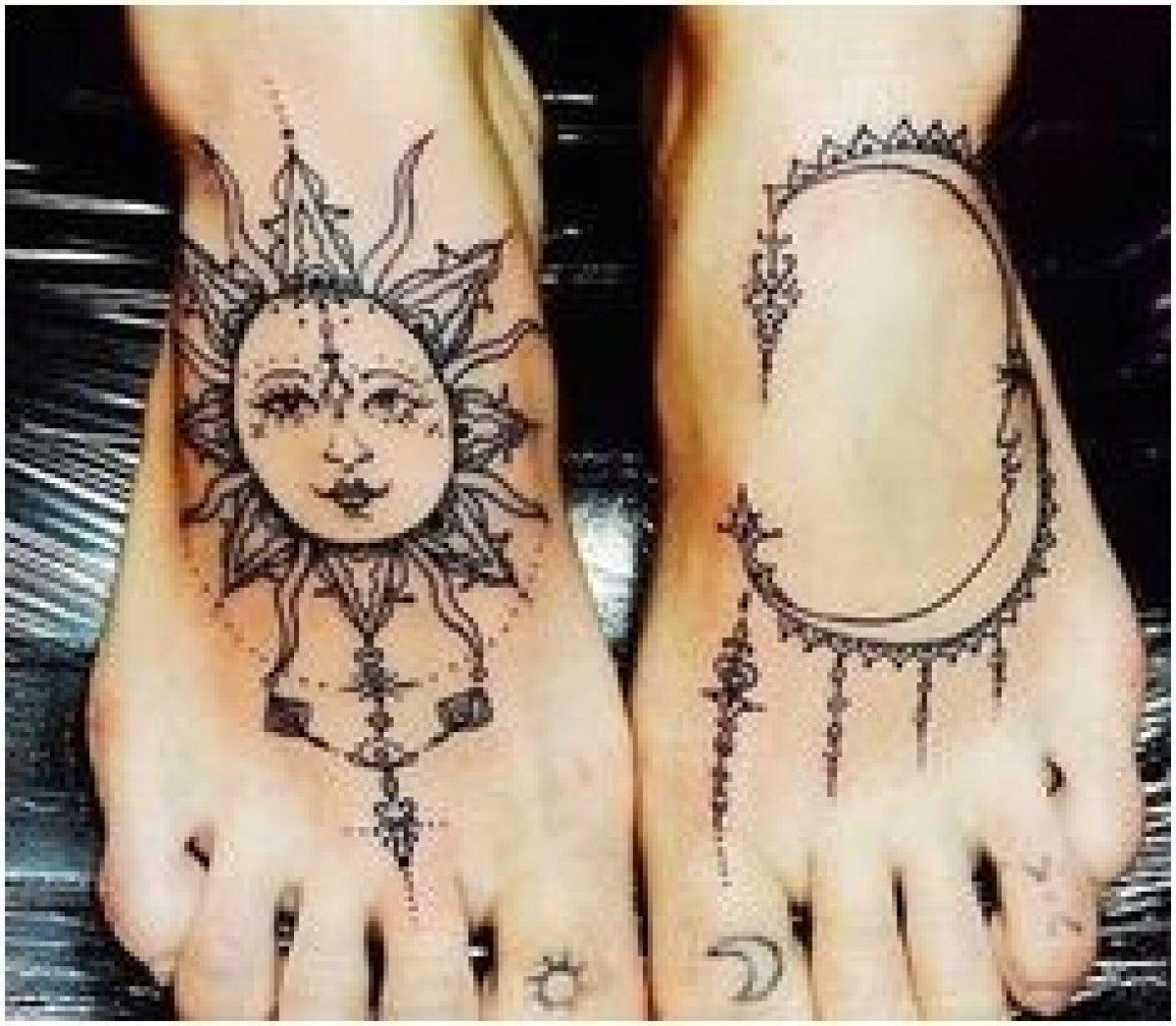 Tatouage Femme Pied Du Soleil Acidcruetattoo 2021