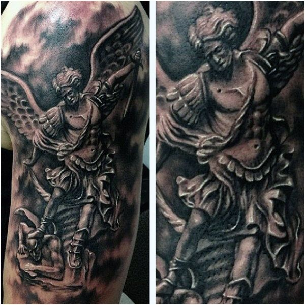 75 St Michael Tattoo Designs For Men Archange et Prince