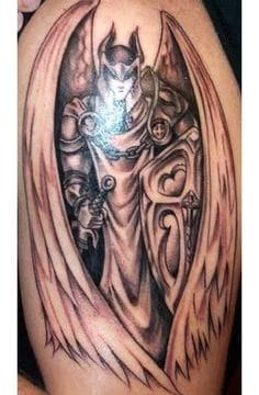 Tatouage femme démon | acidcruetattoo 14