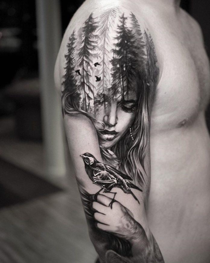 10 7-40 tatouages de forêt pour hommes