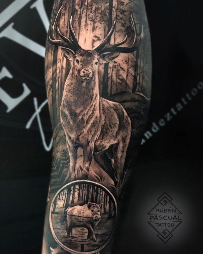 11 6-40 tatouages de forêt pour hommes