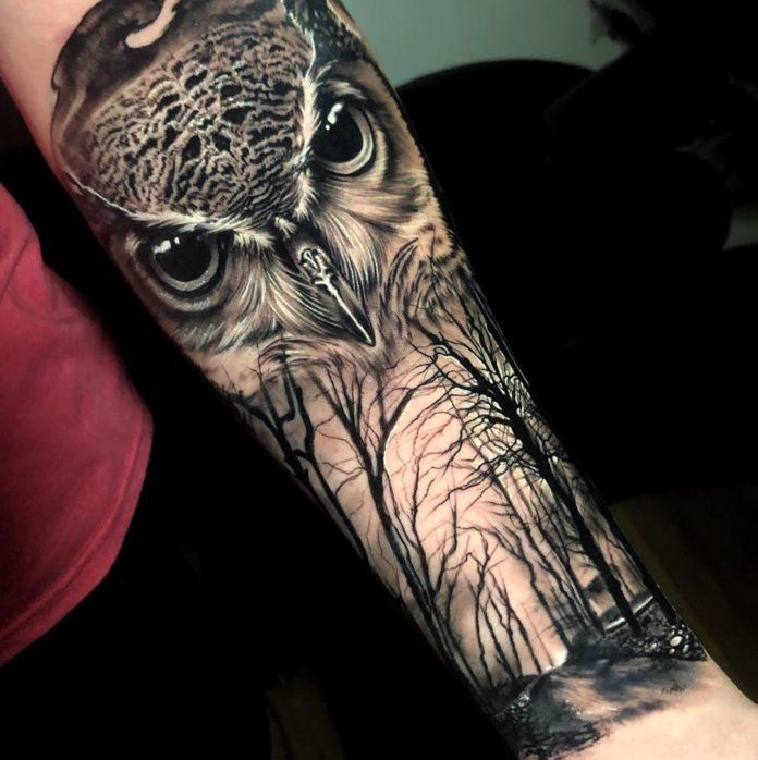 14 7-40 tatouages forestiers pour hommes