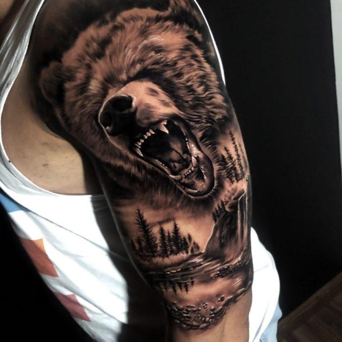 15 5-40 tatouages forestiers pour hommes