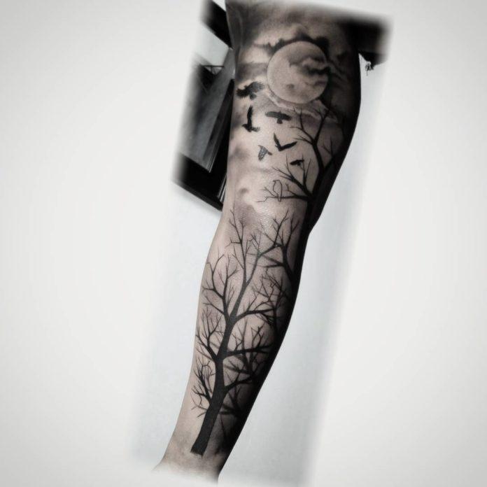 18 6-40 tatouages forestiers pour hommes