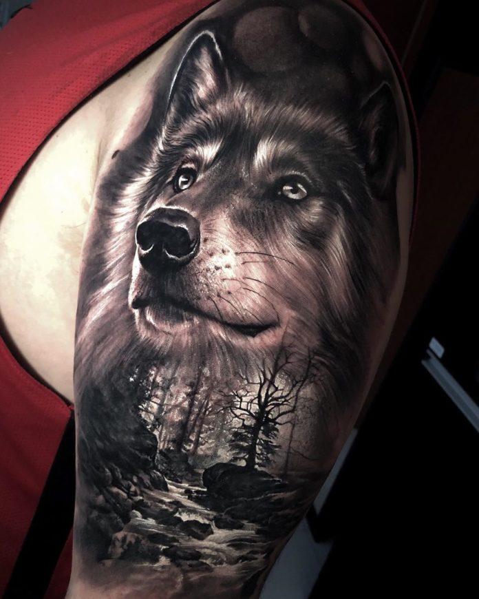 22 8-40 tatouages forestiers pour hommes
