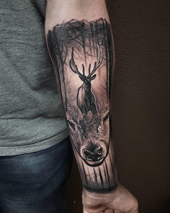 24 7-40 tatouages de forêt pour hommes