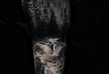 40 tatouages de forêt pour hommes 19