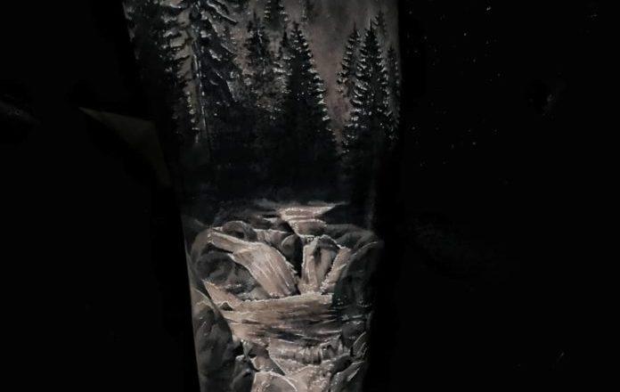 40 tatouages de forêt pour hommes 1
