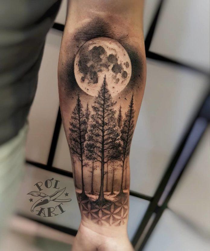 27 12 - 40 tatouages forestiers pour hommes