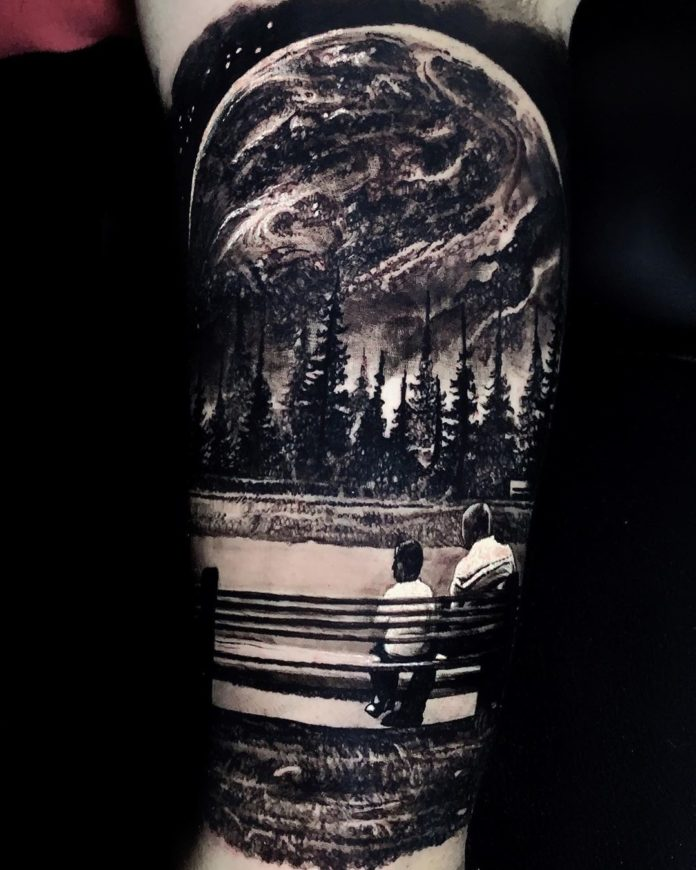 28 7-40 tatouages forestiers pour hommes