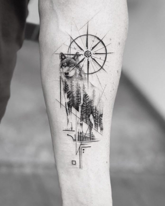 29 8-40 tatouages forestiers pour hommes