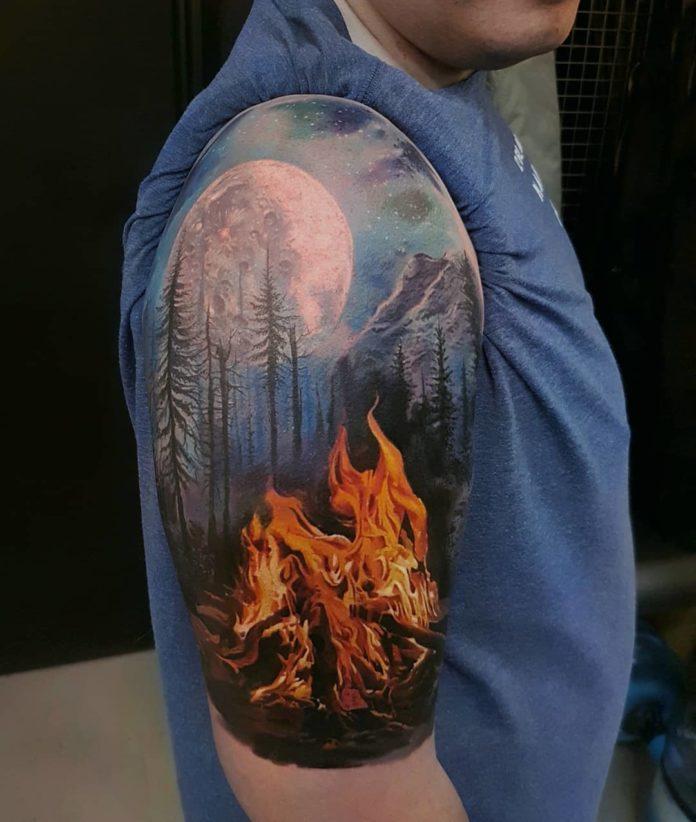 30 9-40 tatouages forestiers pour hommes