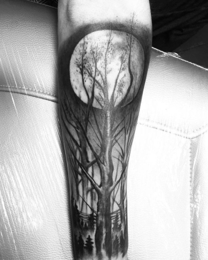 31 8-40 tatouages forestiers pour hommes