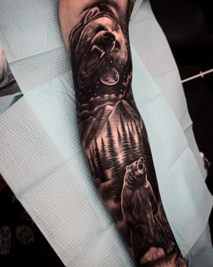 32 7-40 tatouages forestiers pour hommes