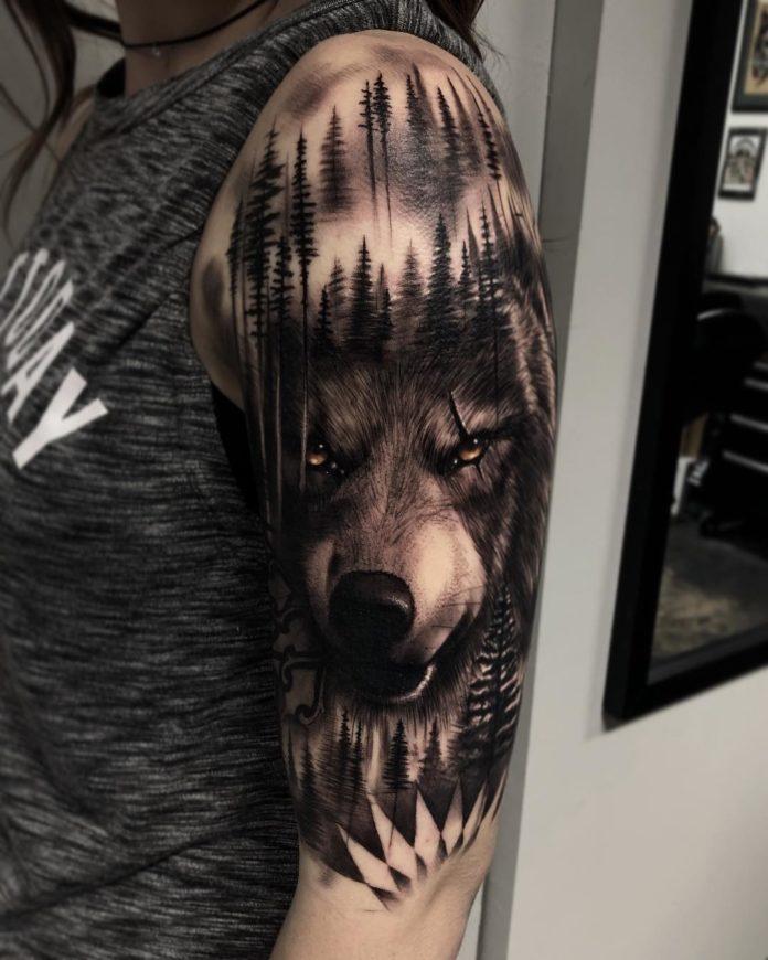 34 8-40 tatouages forestiers pour hommes
