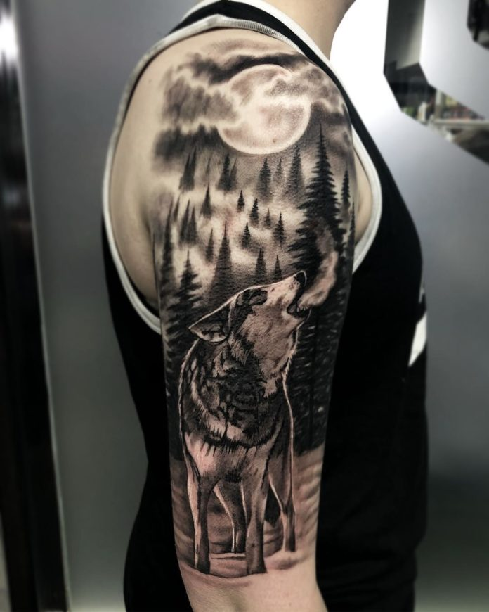 35 7-40 tatouages forestiers pour hommes