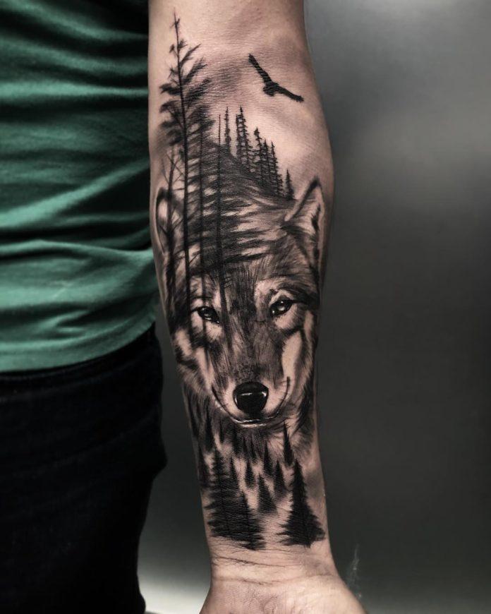 36 7-40 tatouages forestiers pour hommes