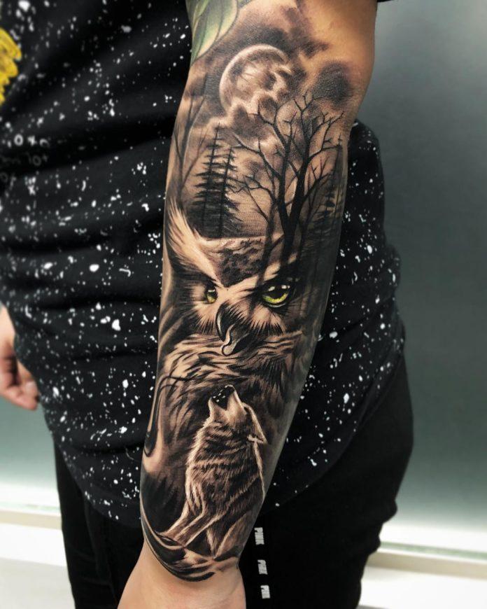 37 7-40 tatouages forestiers pour hommes
