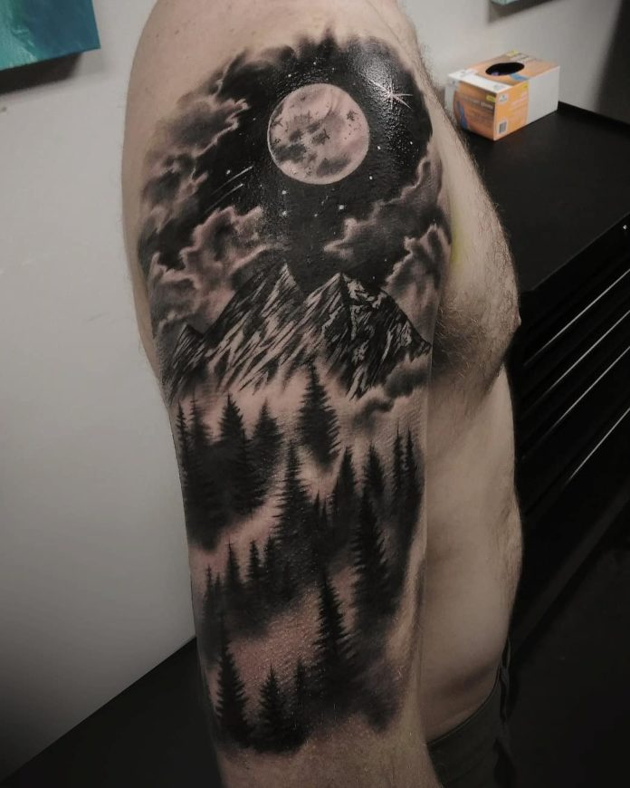 39 7-40 tatouages forestiers pour hommes