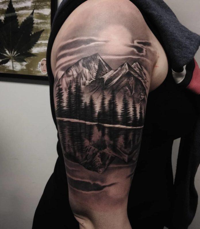 40 8-40 tatouages forestiers pour hommes