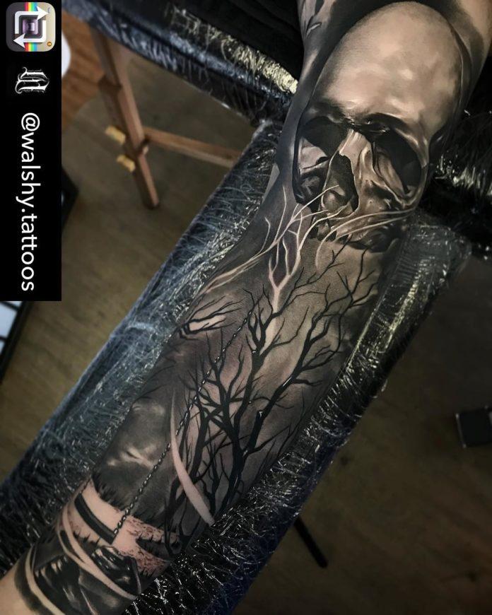 5 7-40 tatouages de forêt pour hommes