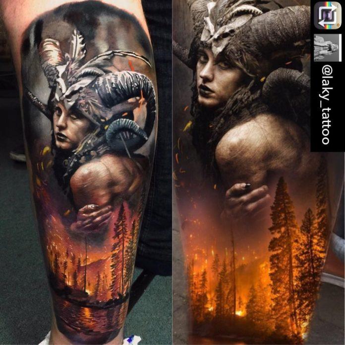 7 6-40 tatouages forestiers pour hommes