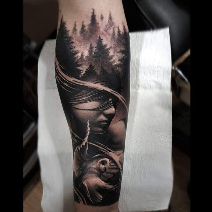 8 7-40 tatouages forestiers pour hommes