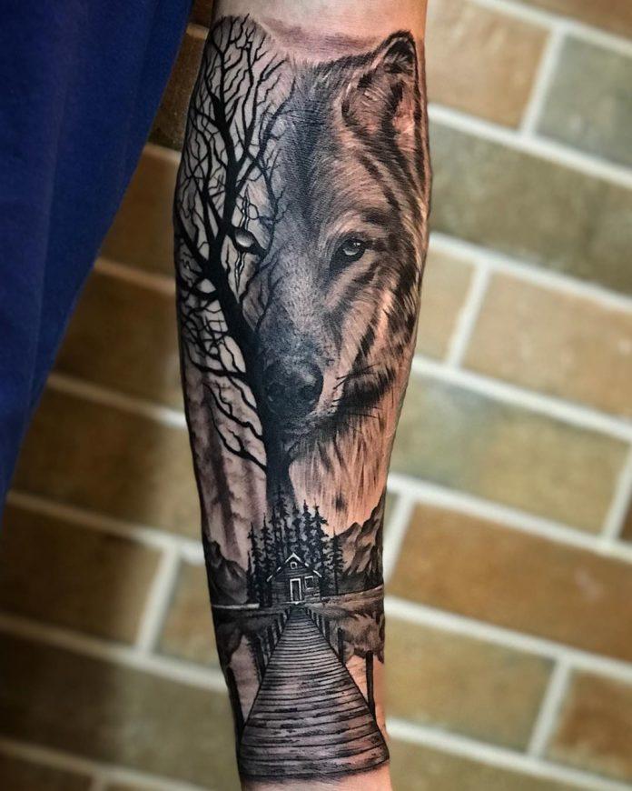 9 6-40 tatouages forestiers pour hommes