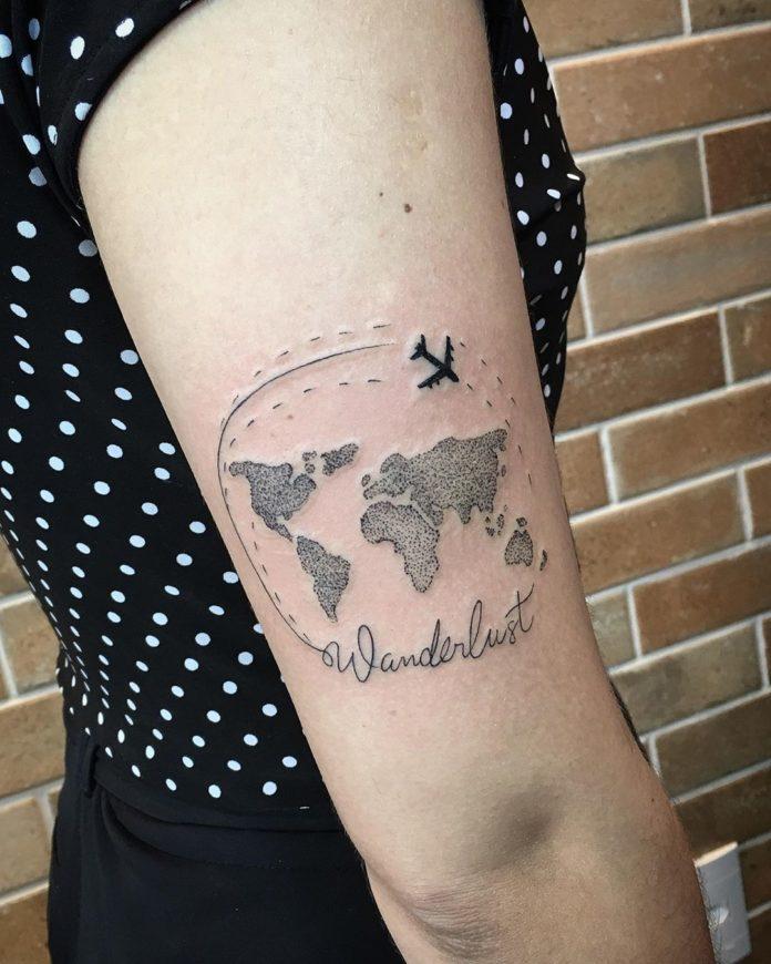 12 tatouages de carte du monde 10-40