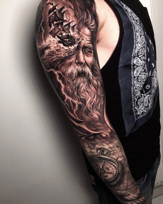 12 14-80 tatouages Viking pour hommes