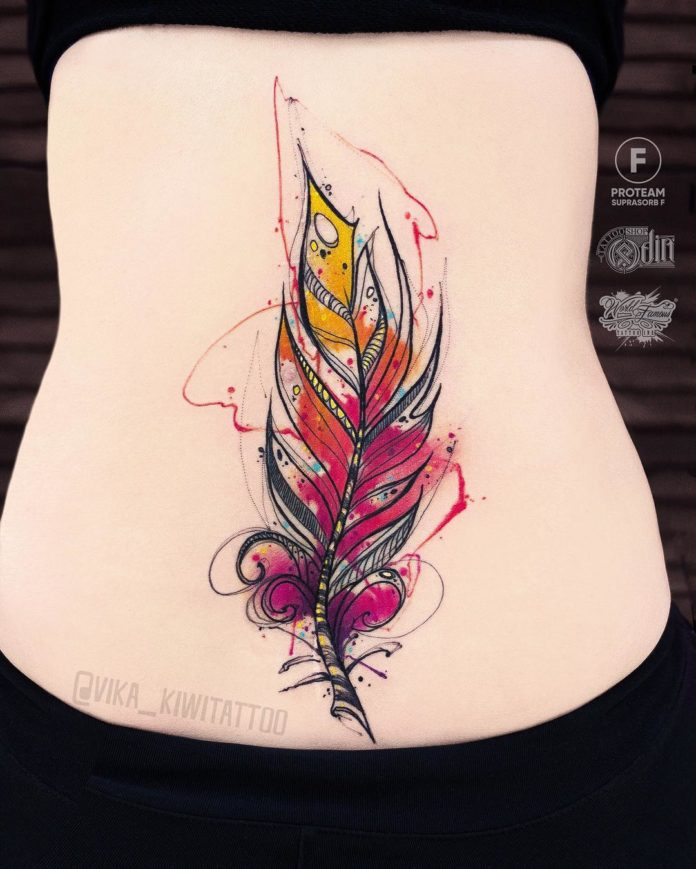 18 9-40 tatouages de plumes pour les femmes