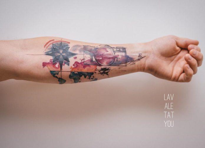 2 12 - 40 tatouages de la carte du monde
