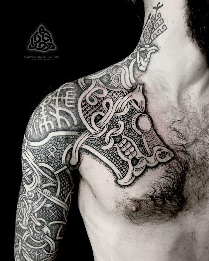 22 17-80 tatouages Viking pour hommes