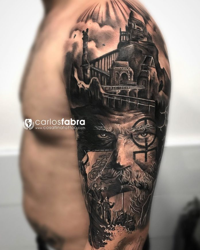 24 14-80 tatouages Viking pour hommes