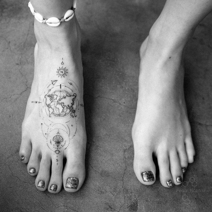 29 12 - 40 tatouages de la carte du monde