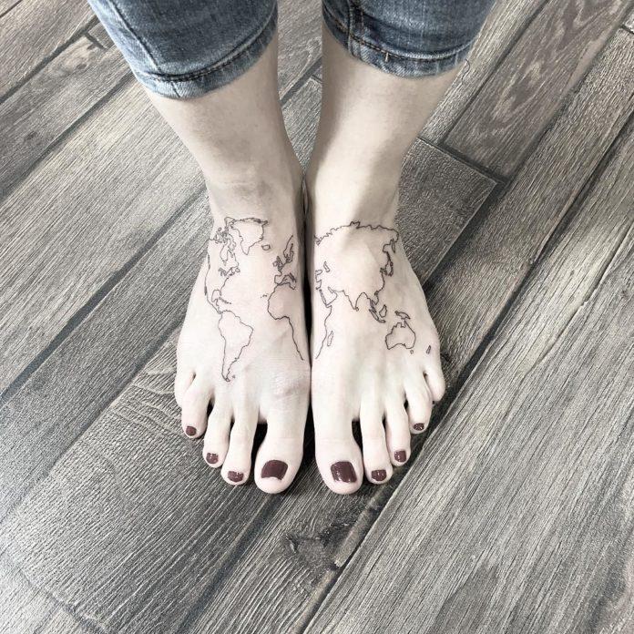 32 12 - 40 tatouages de la carte du monde