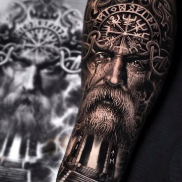 80 tatouages Viking pour hommes 8